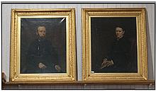 A Fine Pair Of Victorian Oil Paintings On Canvas.