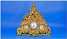French Very Fine Late 19th Century Gilt Metal and