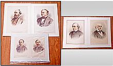 A Collection of Five Coloured Prints, Some Doubles