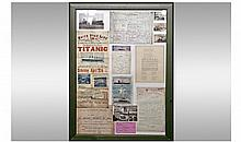 Titanic Memorabilia. Various prints associated