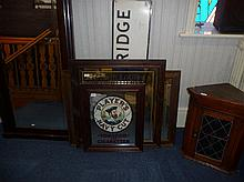 Three Advertising Pub Mirrors, comprising Players