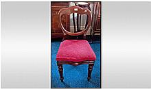 Victorian Mahogany Balloon Back Dining Chair with