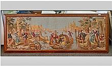 A Framed Continental Tapestry Picture Depicting