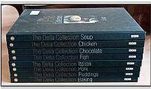 Numbers 1-8 of the Delia Collection Recipe Books