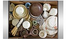Box Of Miscellaneous. Comprising Aynsley part tea