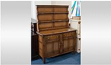 Ercol Welsh Dresser With Plate Rack, Two Drawer