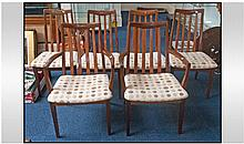 Set Of Six G-Plan Dining Chairs, with slatted