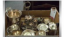 Boxed Lot of Assorted Metal Ware Items.
