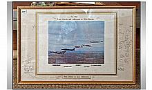 Framed and Glazed Signed Aircraft Photographic