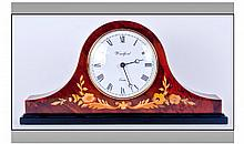 Quartz ''Woodford'' Mantel Clock. White dial with
