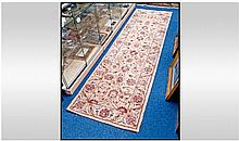 Persian Runner Carpet, beige with floral
