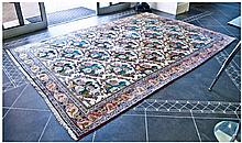 Room Size Persian Wool Carpet, 79 inches wide.