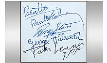 Authentic Beatles Hand Written Autographs. Of the