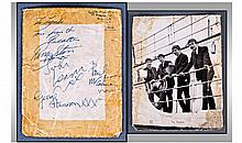 The Beatles 1963 Signed Photo Card A Black And