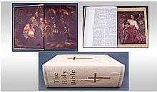 Large Boxed Leather Bound Family Bible With Blank