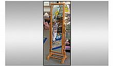 Cheval Full Length Pine Bedroom Mirror. Height 59