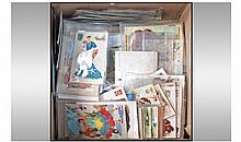 Box Containing A Quantity Of Mixed Postcards.
