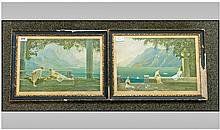 Pair of Framed Coloured Prints, after the artist