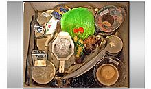Misc Lot Of Pottery, Collectables & Oddments,