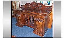 A William VI Pedestal Sideboard. With a later