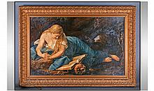 A 19th Century Painting On Panel After The
