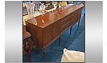 Contemporary, Rosewood Sideboard. A bank of 3