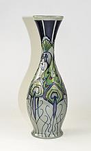 Moorcroft Modern Peacocks Parade Vase, Designer Nicola Slaney. Date 2013 ,