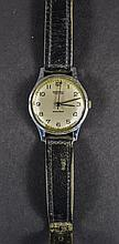 Ingersoll Stainless Steel Gents Mechanical Wristwatch, With Leather Strap.
