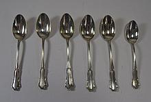Large Silver Teaspoons, Late 19th Century Swedish