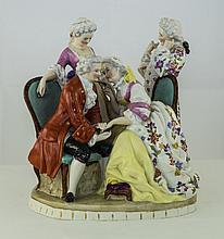A Fine Late 19th Century German Porcelain Group Fi