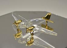 Swarovski Crystal  ' Journeys ' Airplane. Features 18ct Gold Plated Metal T