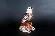 Royal Crown Derby Paperweight 'Bald Eagle' Date 2001 Gold stopper, 1st Qual