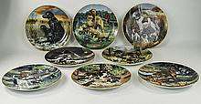 Hamilton Collection 8 Cabinet Plates Depicting Sporting Dogs c1989/90 To In
