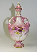 Royal Worcester Hand Painted Blush Pink and Floral