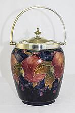 William Moorcroft Signed Walker and Hall Silver Plated Lidded and Swing Han