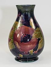 William Moorcroft Signed Globular Shaped Vase ' Ochre Pomegranate ' Design,