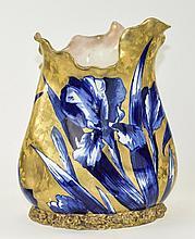 Doulton Late 19th Century Blue Iris Pattern Unusua