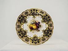 Royal Worcester Hand Painted Cabinet Plate ' Falle