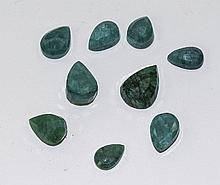 Selection of Sri Lankan Natural Cut Tear Drop Emer