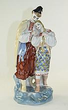 Mid to Late 20thC Russian Pottery Traditional Folk