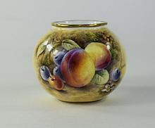 Royal Worcester Hand Painted Small Bulbous Shaped