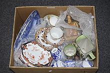 Mixed Box Of Pottery And Collectables. To Include