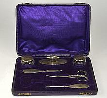 George V Silver Backed 6 Piece Manicure Set. Hallm