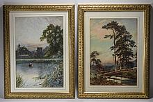 V. Allen Fl 1920's - 1930's Pair of Watercolours '