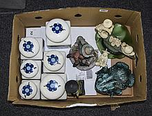 Box Of Miscellaneous Ceramics. Comprising Capodimonte Style Figure, Orienta