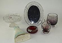 Collection Of Assorted Glass And Ceramics. Comprising Royal Winton Wall Pla