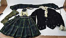 Child's Scottish Tartan Outfit comprising kilt, pa
