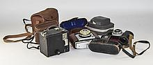 Collection Of 5 Cameras Comprising Kodak Brownie 44A With Case, Coronet Vis