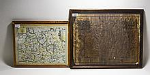 John Speed Framed Map Of Surrey, Dated For 1610. Appears To Be Laid Over On