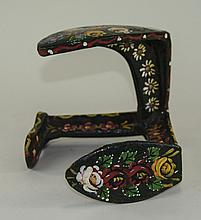 Decorative Boat Anchor, With Traditional Narrow Boat Painted Decoration.